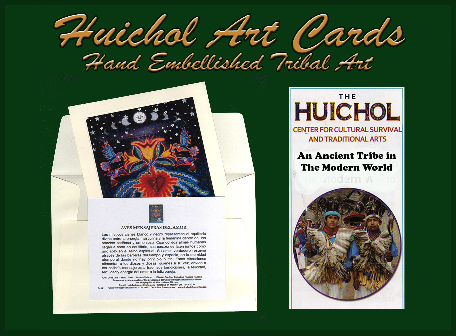 Huichol Tribal Art Cards