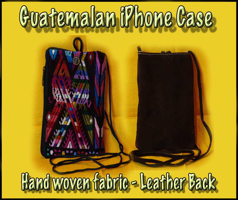 Guatemalan Iphone Case w/ Leather Back